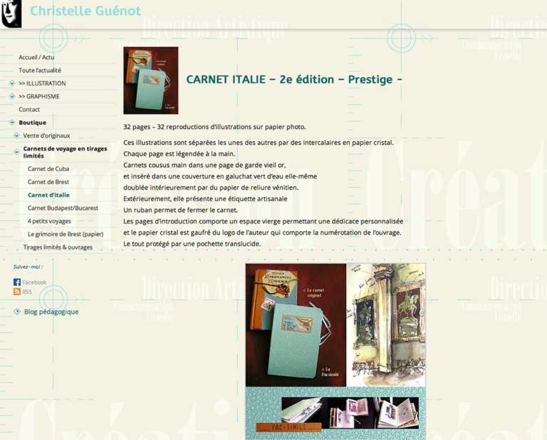 Site web illustratrice