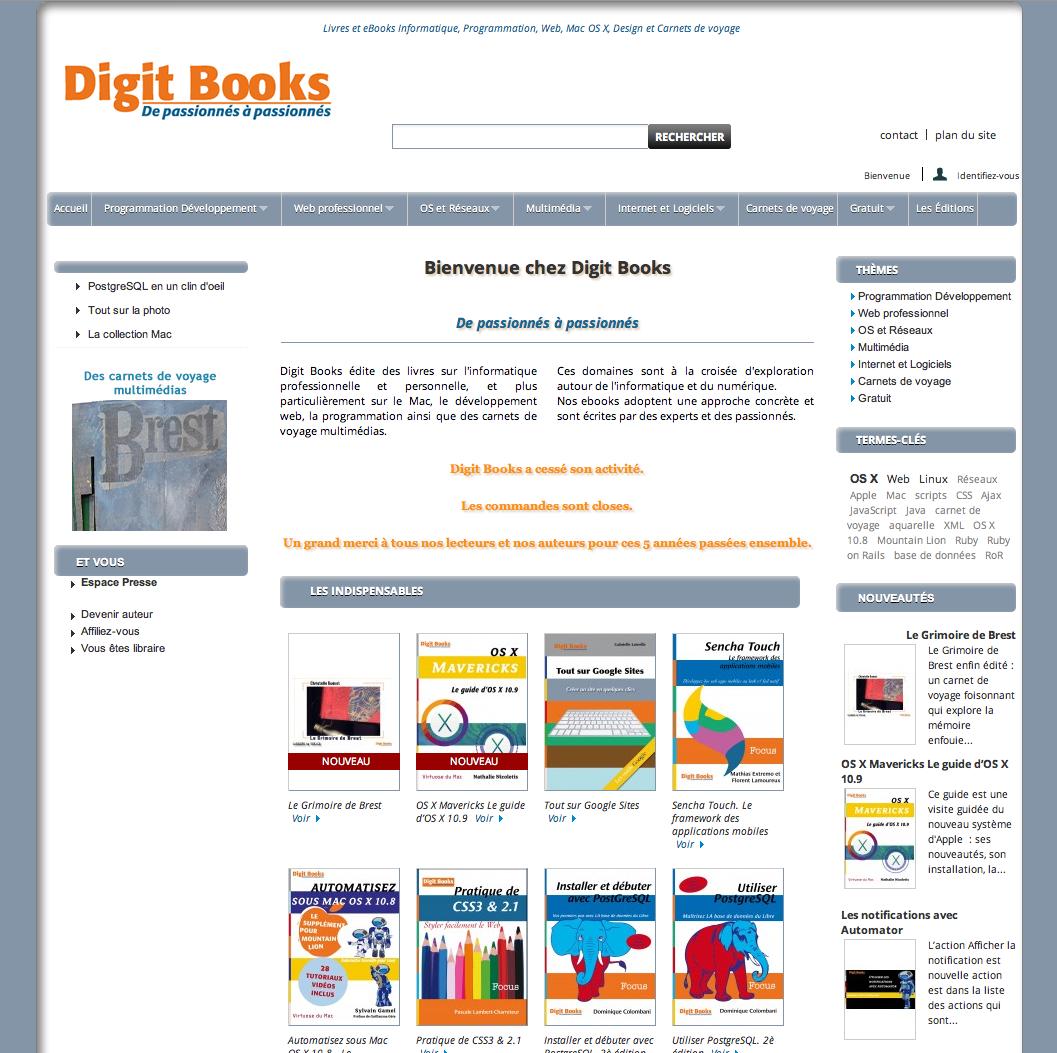 Site web Maison d'édition