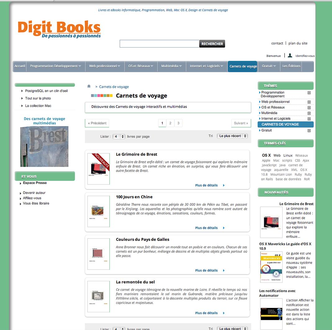 Site web Epub