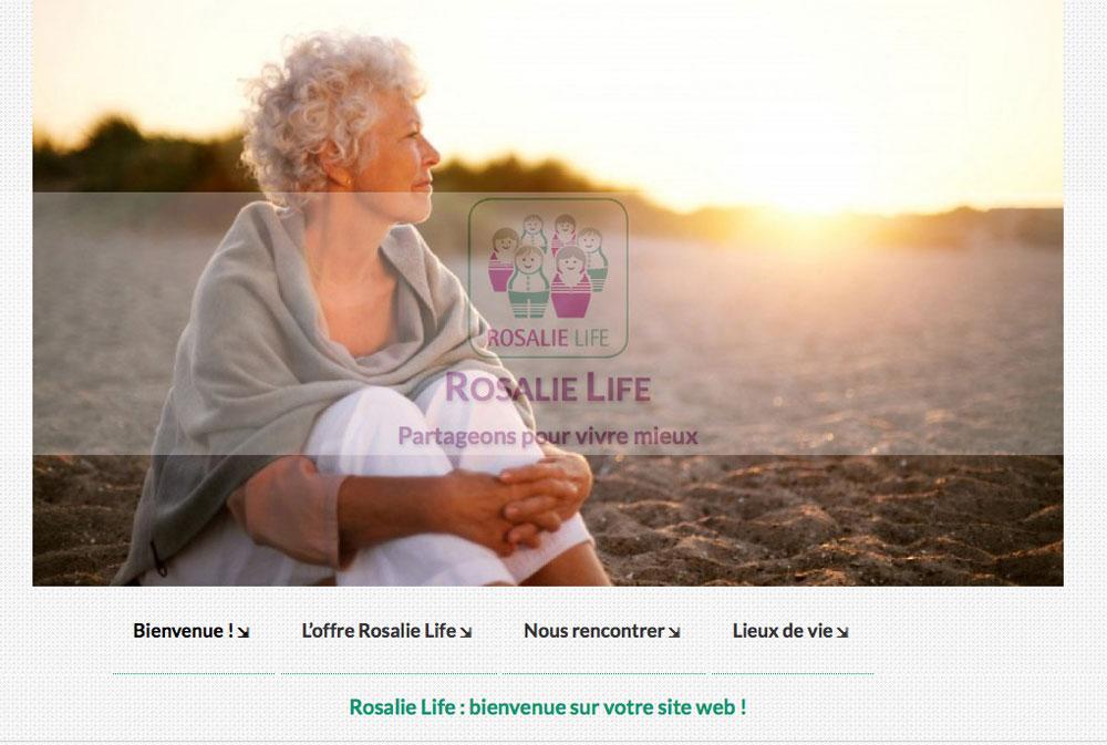 WebDesign pour Rosalie Life