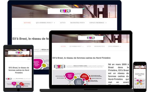 Site internet d'Ell'à Brest
