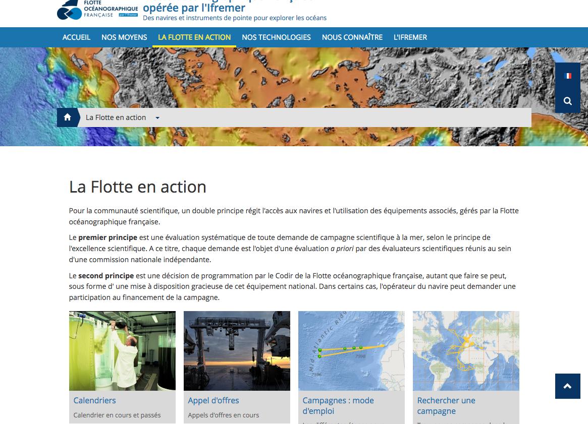 La Flotte en action Flotte océanographique française opérée par l Ifremer
