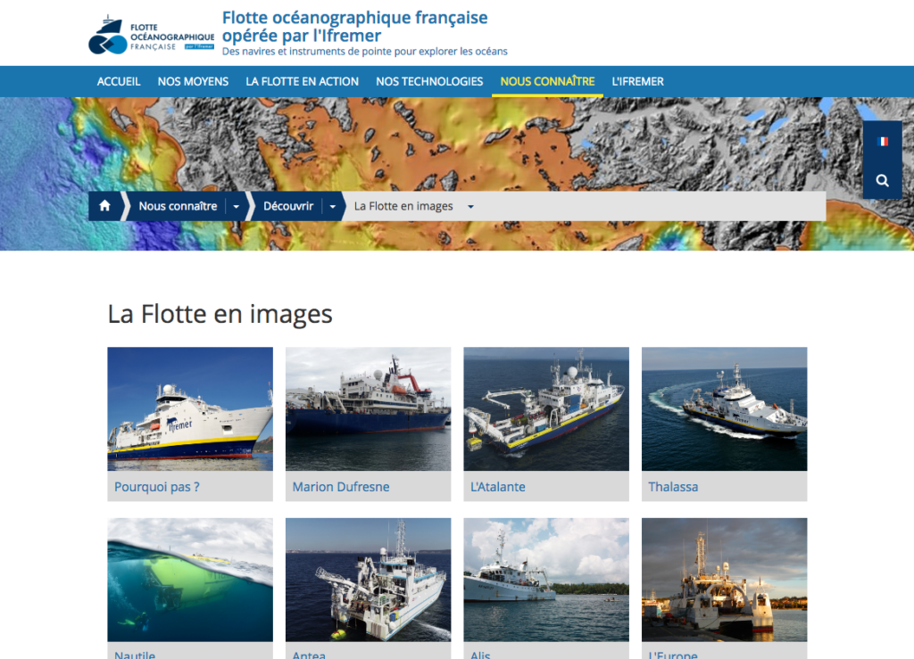 Site web de la FOF Images des navires