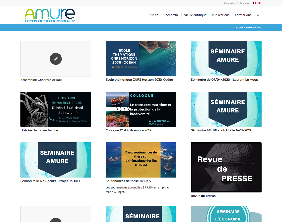 Vie scientifique Archives Laboratoire AMURE