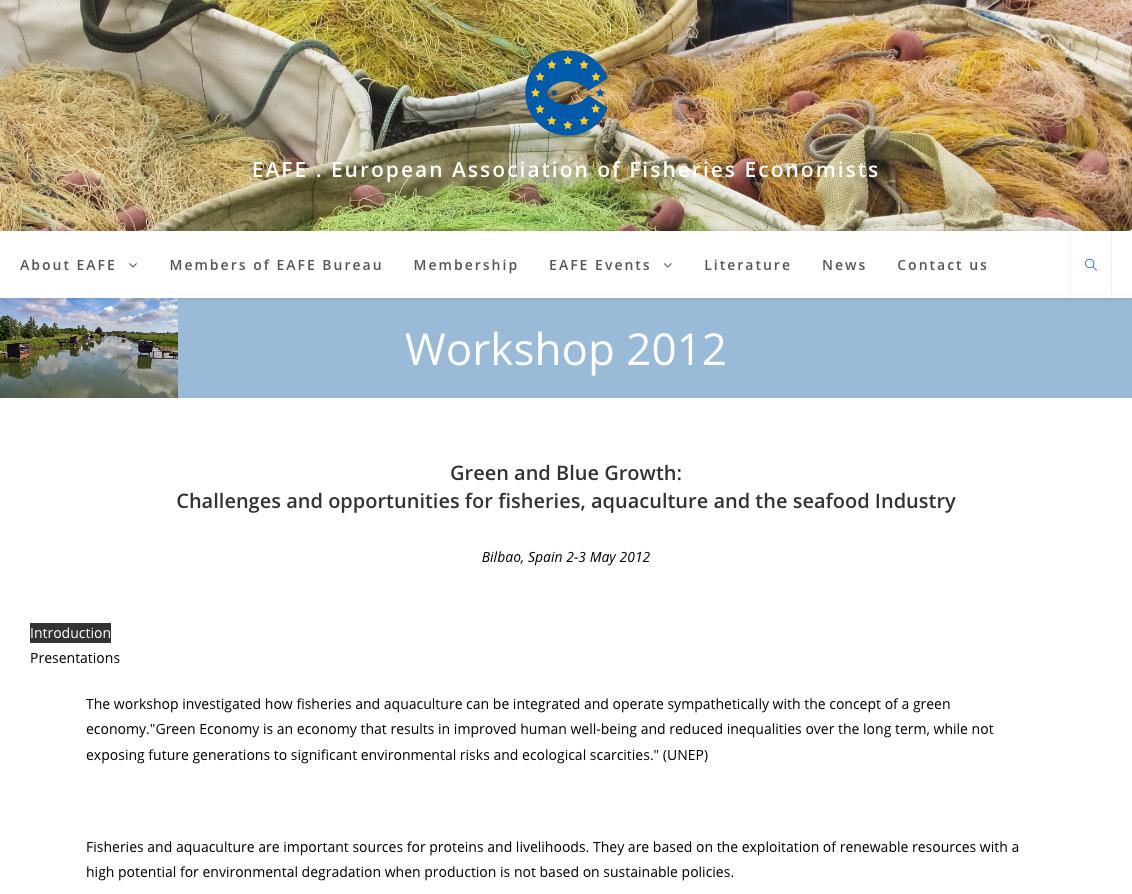 Workshop 2012 – EAFE