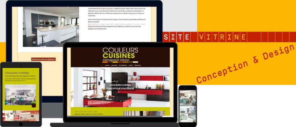Conception et mise en place d'un site vitrine de cuisiniste